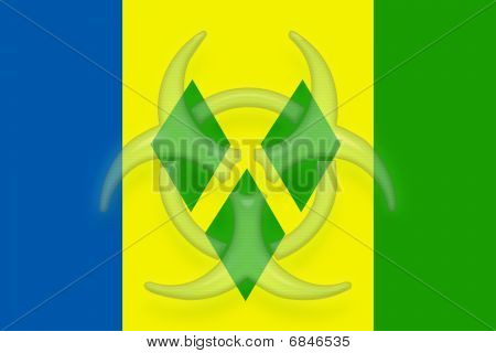 Flag Of Saint Vincent And Grenadines Health Warning