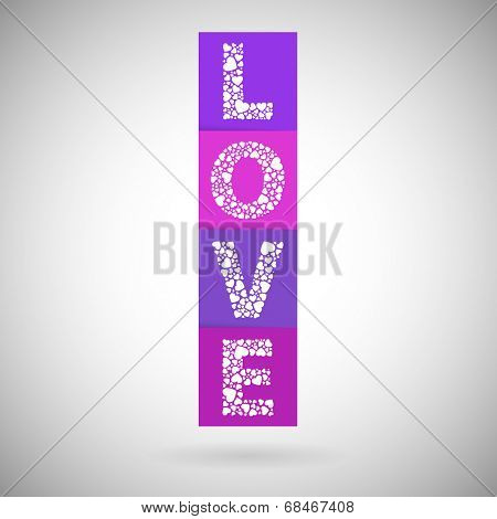 Love heart valentines day blocks