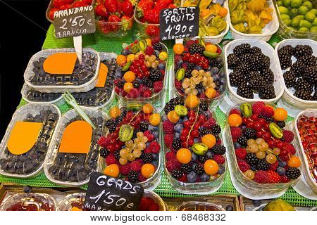 Fruits Market (la Boqueria,barcelona Famous Marketplace)