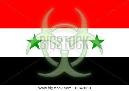 Flag Of Syria Health Warning