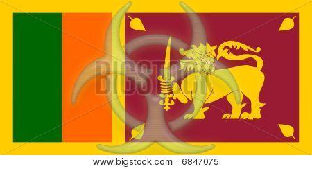 Flag Of Sri Lanka Health Warning
