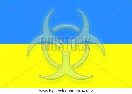 Flag Of Ukraine Health Warning