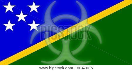 Flag Of Solomon Islands Health Warning