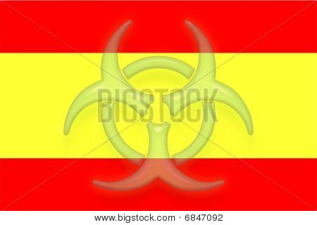 Flag Of Spain Health Warning
