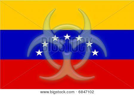 Flag Of Venezuela Health Warning