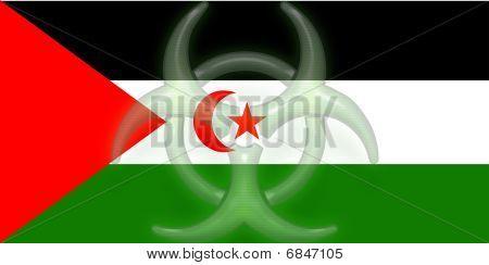 Flag Of Western Sahara Health Warning