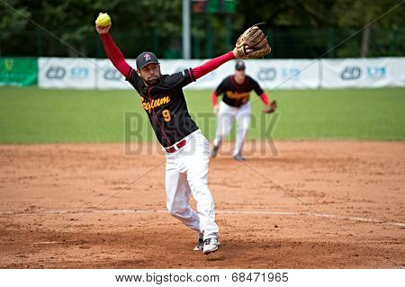 Belgian pitcher Wout Cnops