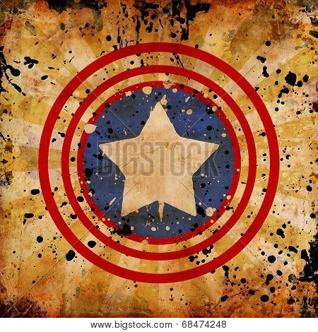 4Th July Grunge Background
