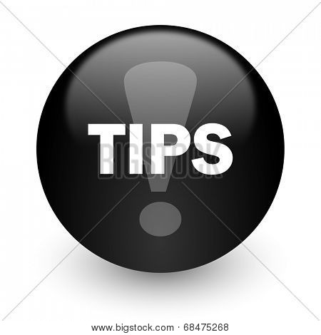 tips black glossy internet icon