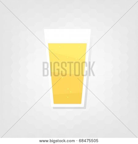 flat glass beer icon
