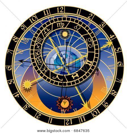 Astronomical Clock - Vector