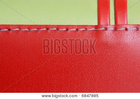 Red And Green Leather