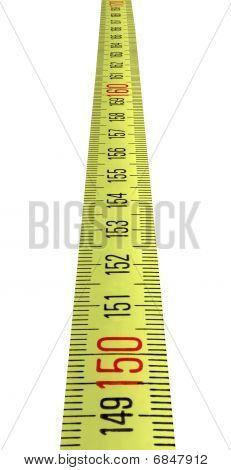 Single yellow ruler isolated