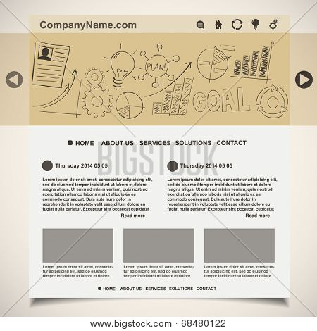 Website template creative idea design, vector