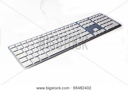 The modern and keyboard for a computer