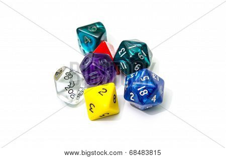 Role Playing Dices Isolated On White Background