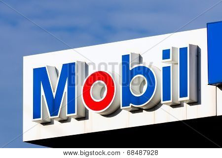 Mobil Oil Gas Station Sign