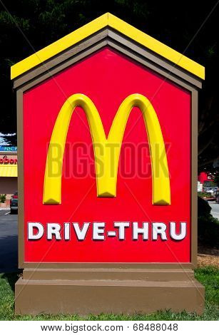 Mcdonald's Drive-thru Sign