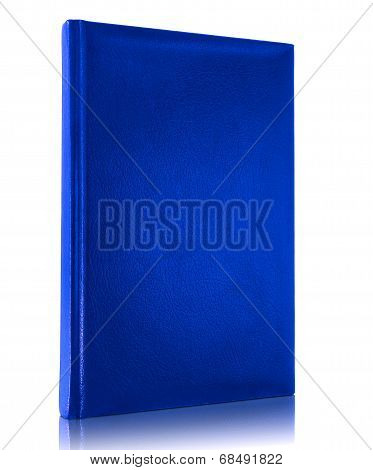Blank Blue Book Cover Isolated On White Background