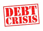 pic of loan-shark  - DEBT CRISIS red Rubber Stamp over a white background - JPG