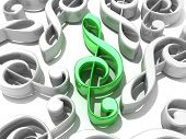 stock photo of g clef  - The Treble clef - JPG