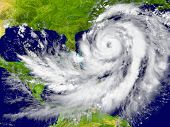 image of hurricane wind  - Huge hurricane between Florida and Cuba - JPG