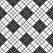 stock photo of chinese checkers  - Simple checkered template in black and white colors - JPG