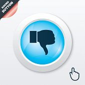 stock photo of dislike  - Dislike sign icon - JPG