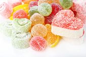 stock photo of testis  - Testy jelly candies close up - JPG