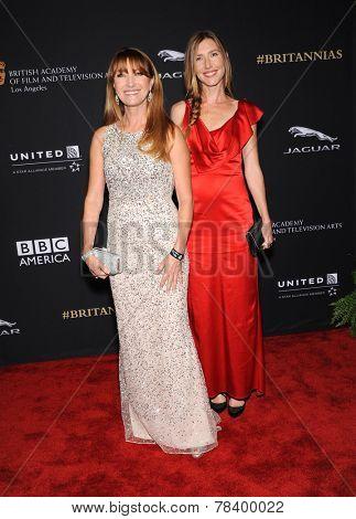 LOS ANGELES - OCT 30:  Jane Seymour & Katherine Flynn arrives to the BAFTA Jaguar Brittannia Awards 2014 on October 30, 2014 in Beverly Hills, CA
