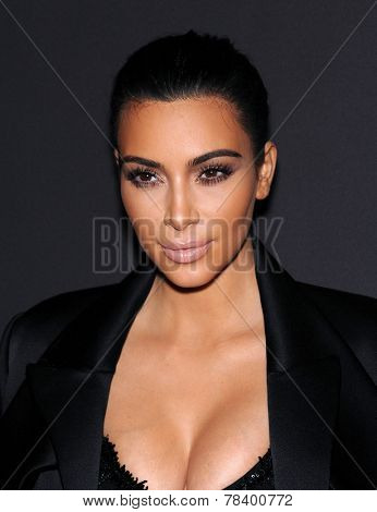 LOS ANGELES - DEC 11:  Kim Kardashian arrives to the The First Annual Diamond Ball on December 11, 2014 in Beverly Hills, CA