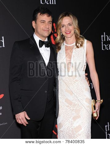 LOS ANGELES - DEC 11:  Jimmy Kimmel & Molly McNeaney arrives to the The First Annual Diamond Ball on December 11, 2014 in Beverly Hills, CA