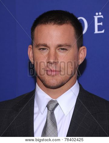 LOS ANGELES - AUG 14:  Channing Tatum arrives to the HFPA Annual Installation Dinner 2014 on August 14, 2014 in Beverly Hills, CA