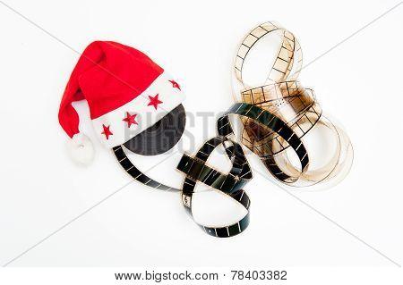Santa Claus Hat And Film Reel