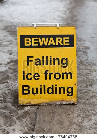 Before Falling Ice Sign
