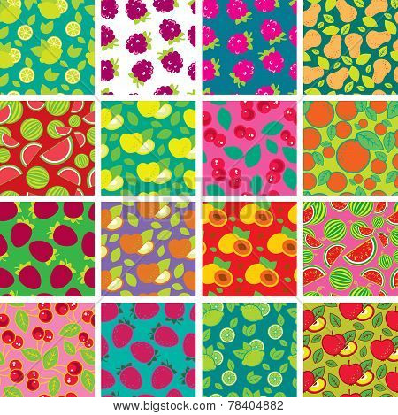 Simple Colorful Seamless Patterns