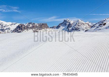 Snowcat trail