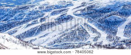 Ski slopes in Hemsedal