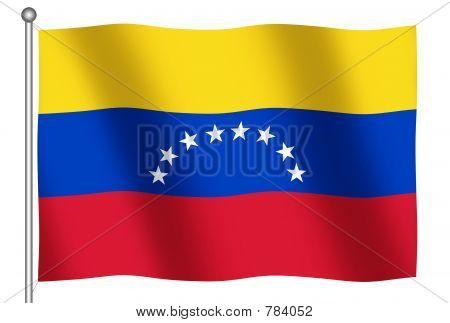 Bandeira da Venezuela acenando