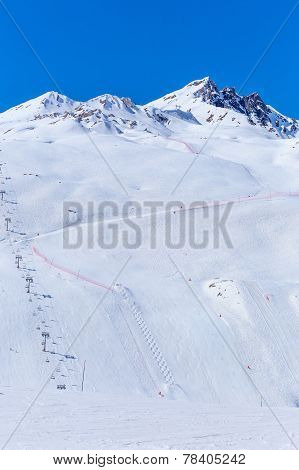 Ski Resort Tignes.