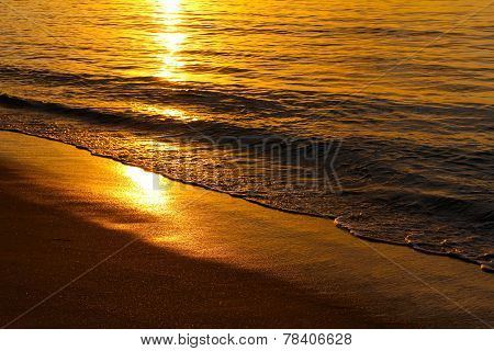 Gentle Waves In The Sunset