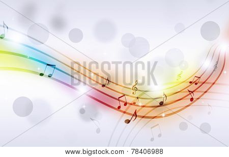 Multicolor Music Notes