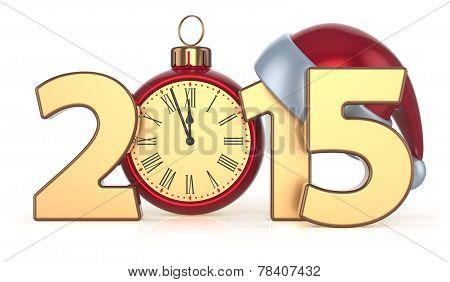 2015 Happy New Year Christmas Ball Alarm Clock Decoration