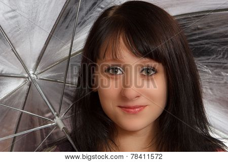 Woman under a umbrella
