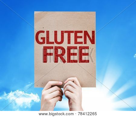 Gluten Free card with a beautiful day