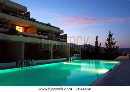 Sunset At The Luxury Villa, Crete, Greece