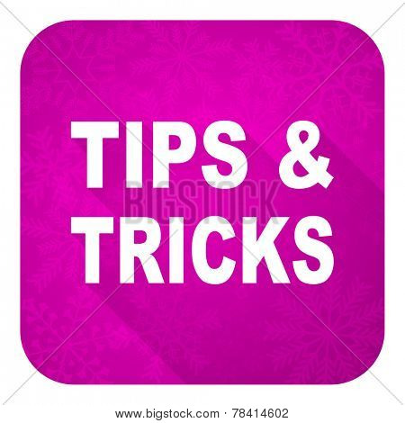 tips tricks violet flat icon, christmas button