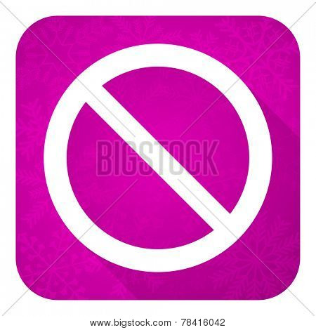 access denied violet flat icon, christmas button