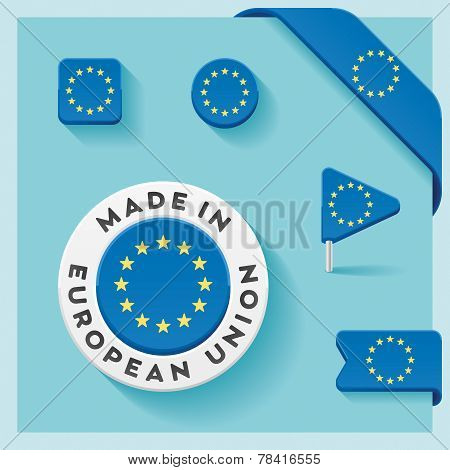 European Union Made Symbol Collection