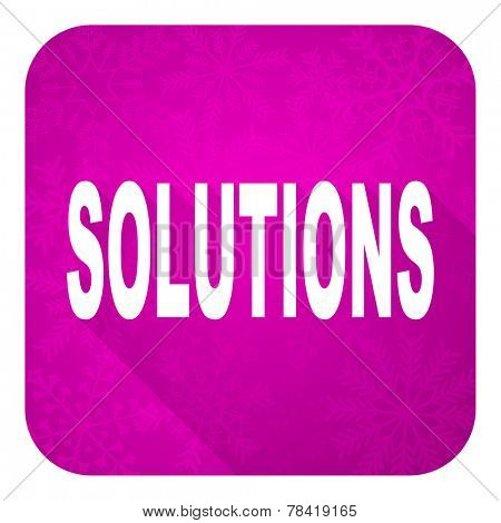 solutions violet flat icon, christmas button